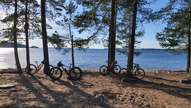 Maastopyöräily Saimaalla