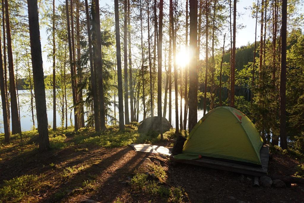 Telttaretkeilyä Saimaalla